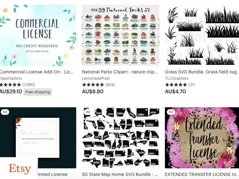 Etsy for Commercial Graphics