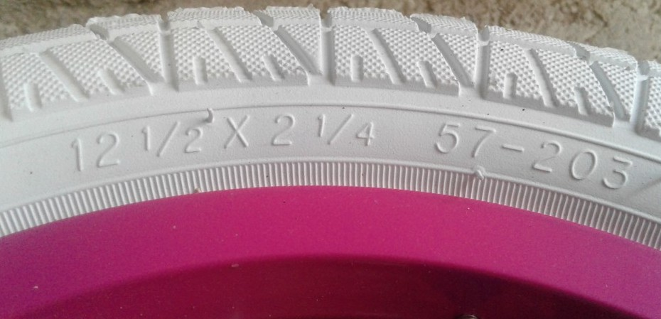 12' white bicycle tire