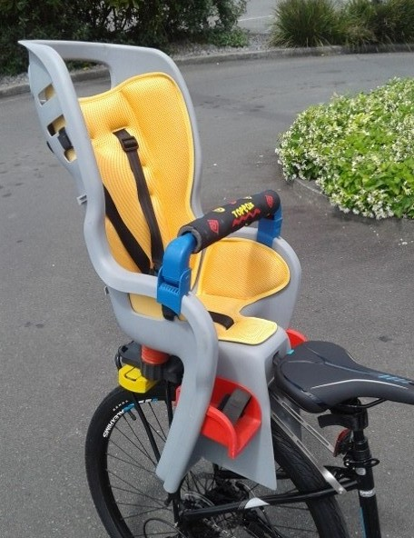 Topeak BabySeat 2 fitted to bicycle