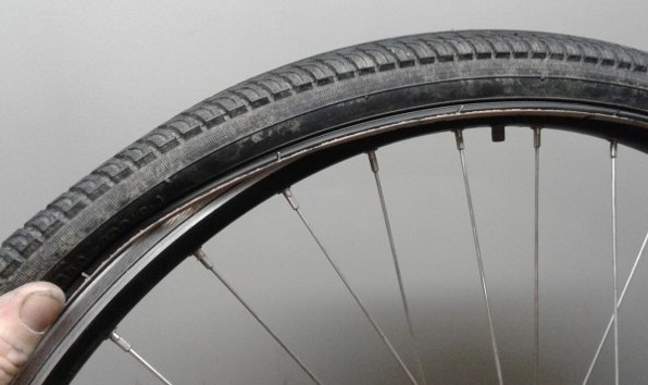 fitting bike tire to rim