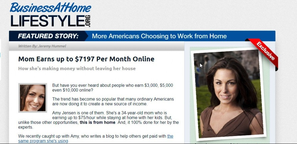 is business at home lifestyle a scam