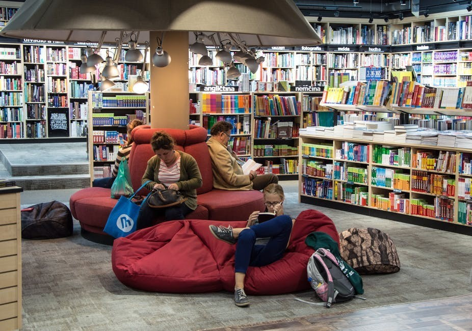 Hanging out in a library