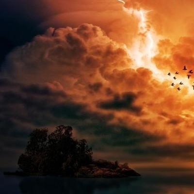 Thunder upon island