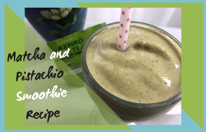 matcha smoothie recipe title photo