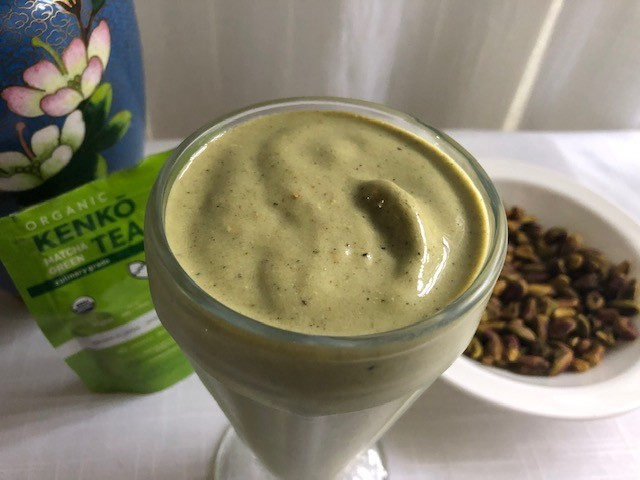 Matcha and Pistachio smoothie photo