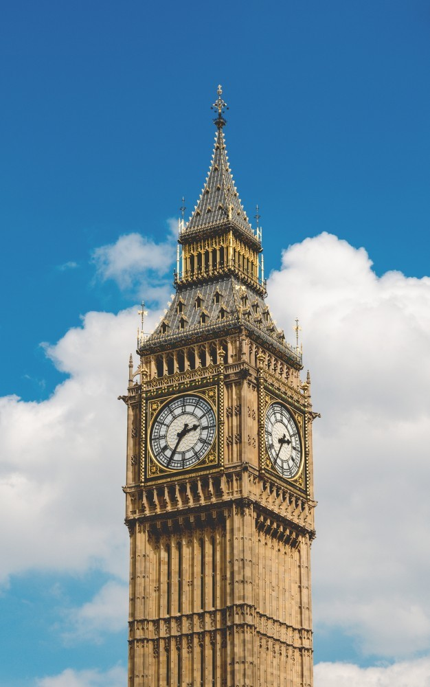 Geography Songs CD Big Ben daytime blue sky puffy white clouds henry-be-63042-unsplash