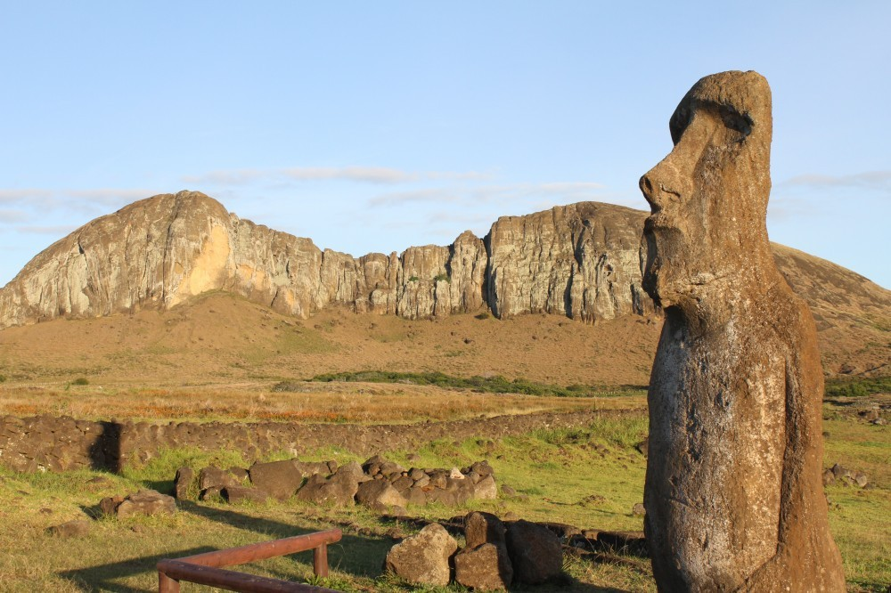 Geography Songs CD Easter Islands carved head rocky outcrop thomas-griggs-641512-unsplash