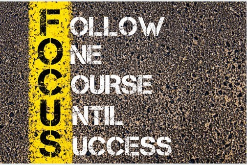 Follow One Course Until Success - Focus