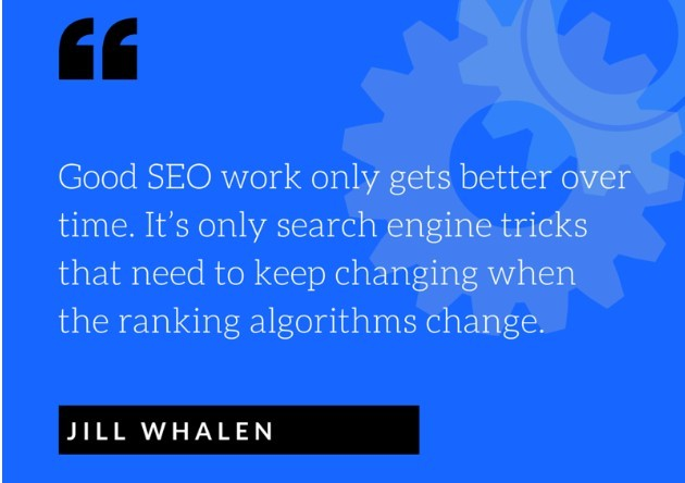 Jill Whalen quote on SEO
