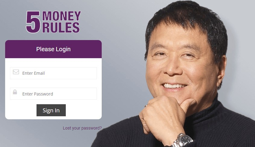 A Rich Dad Summit Review - 5 Money Rules Login Page