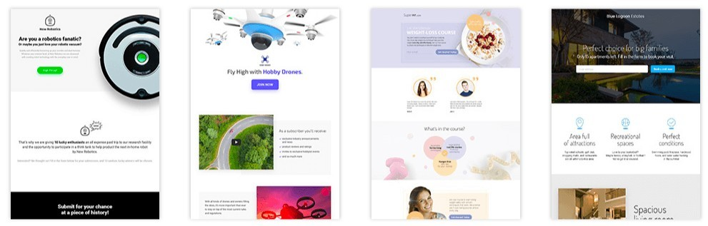GetResponse Review - Landing pages