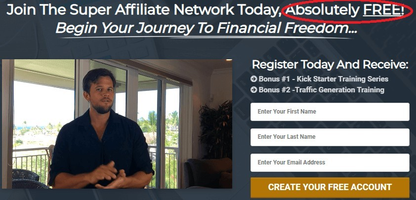 Super Affiliate Network Enrollment Form