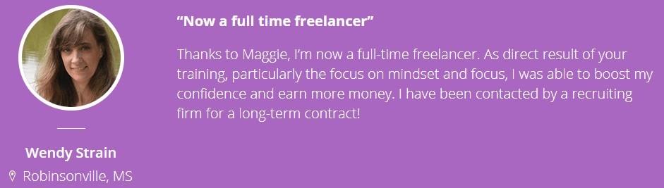 The Freelance Profit Academy - Testimonial 2