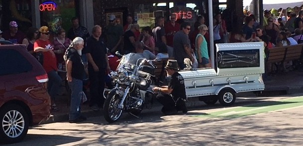 motorcycle casket