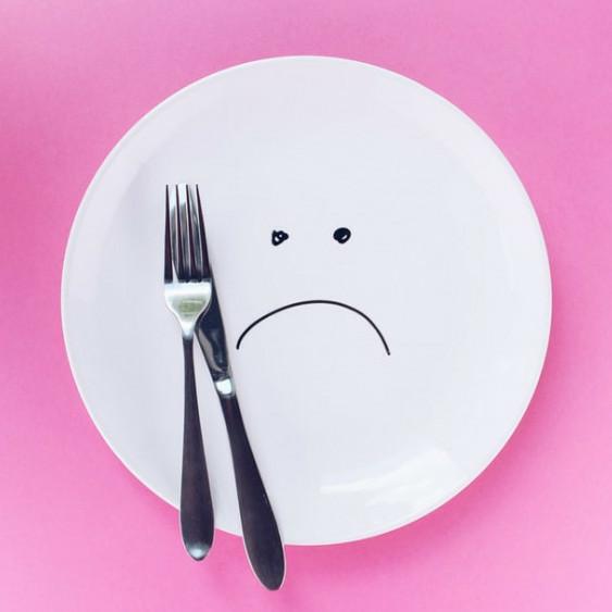 SAD, plate, utensils, silverware