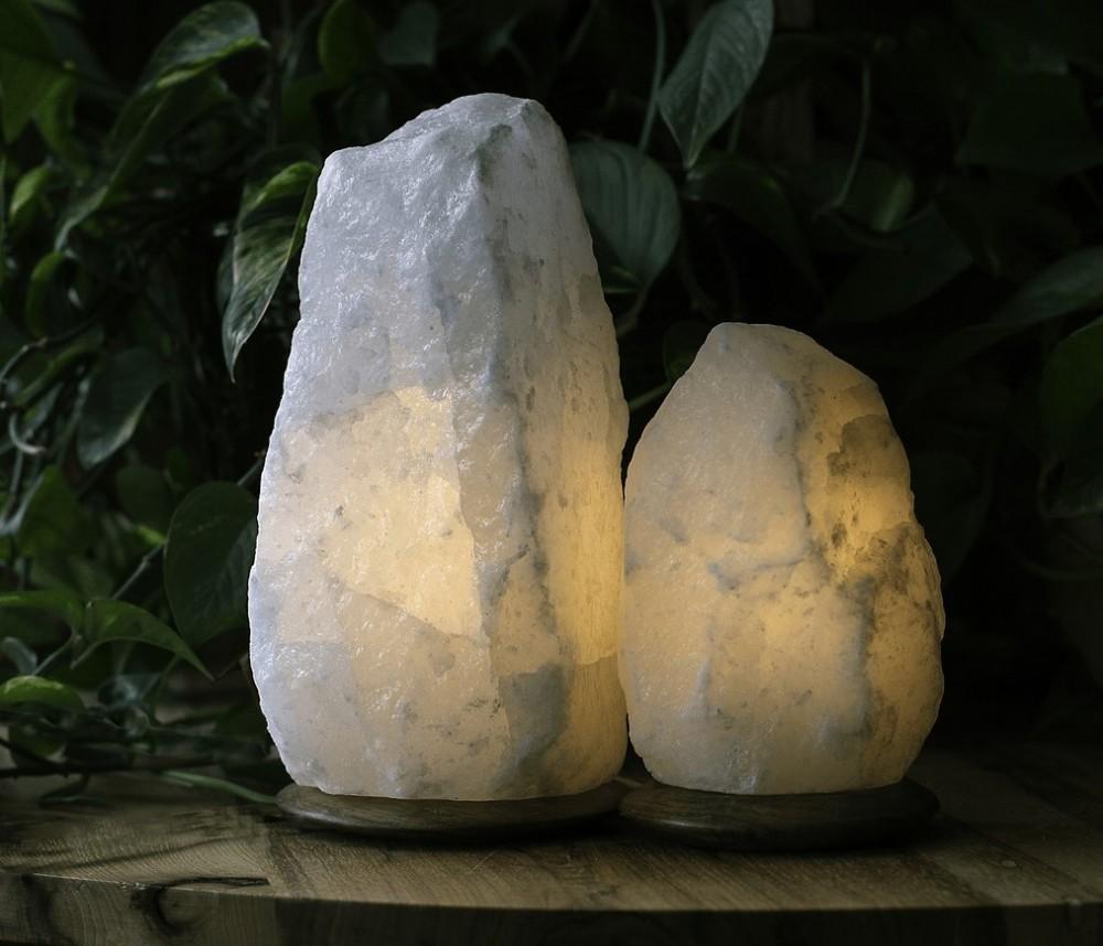Rare white Salt Lamp