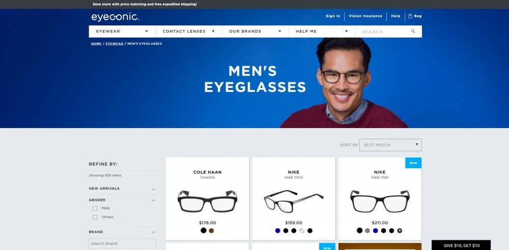 Men's Glasses at Eyeconic