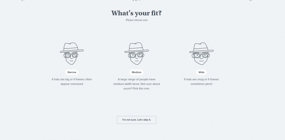 Warby Parker Try At Home Quiz Fit