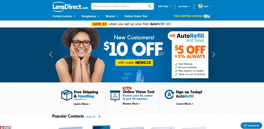 Lens Direct Home Page