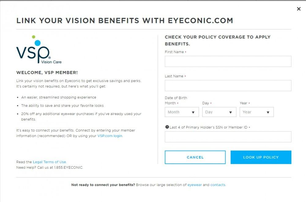 Eyeconic VSP PAge