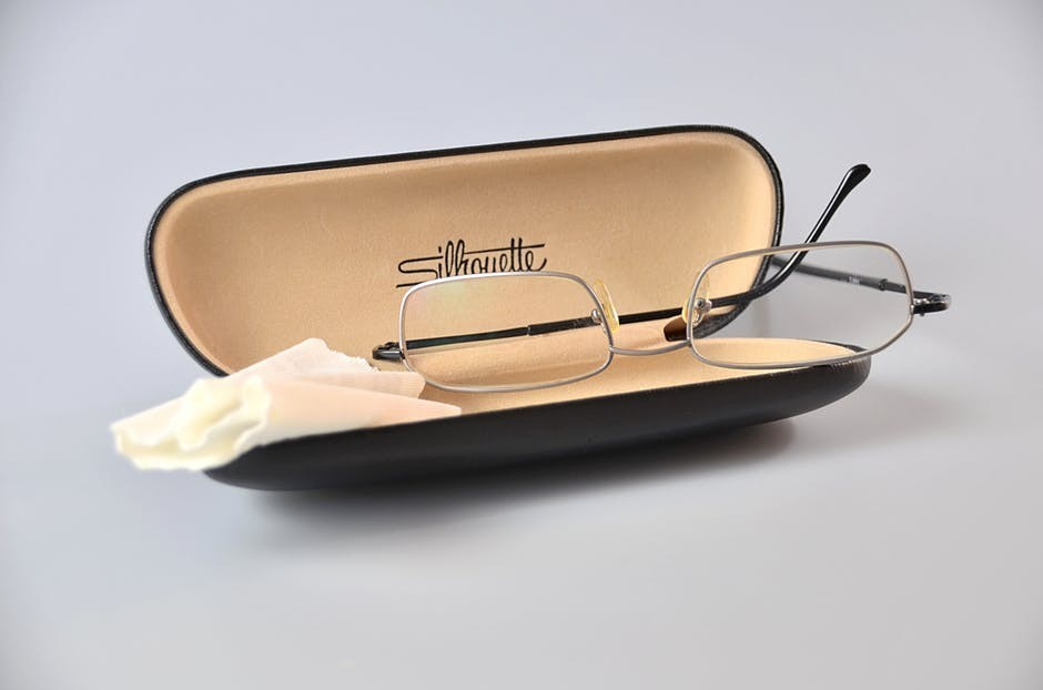 Prescription glasses with case