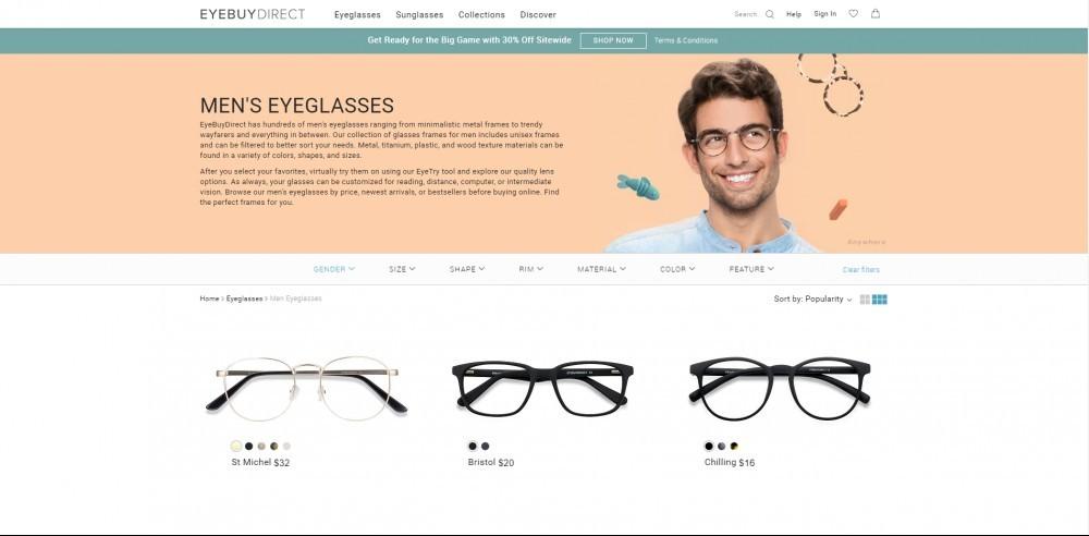 Men's Frames Page