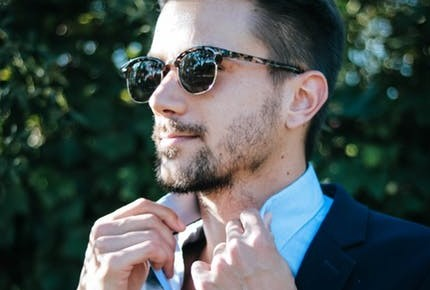 Man in suit with sunglasses