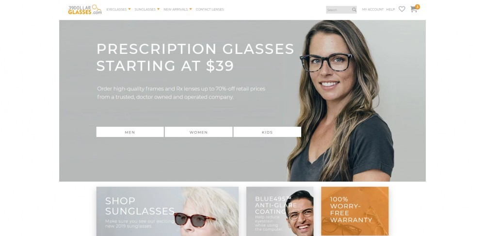 39DollarGlasses Homepage