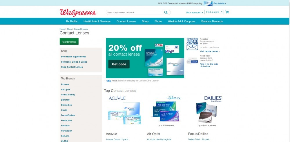 Walgreens Contacts Page