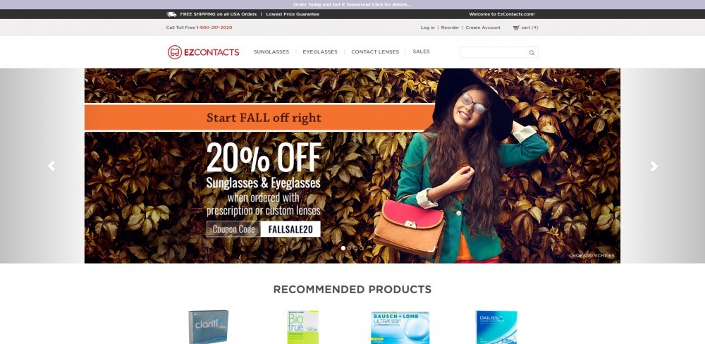 EZContacts Homepage