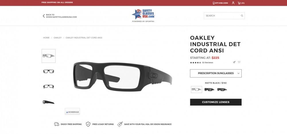 Oakley Industrial Safety Frame