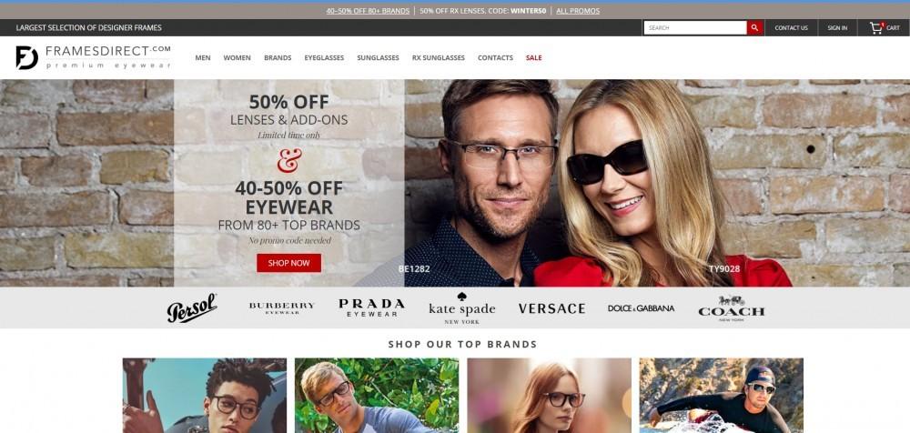 FramesDirect Homepage