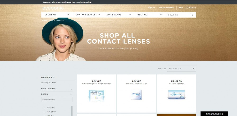 Eyeconic Contact Lenses