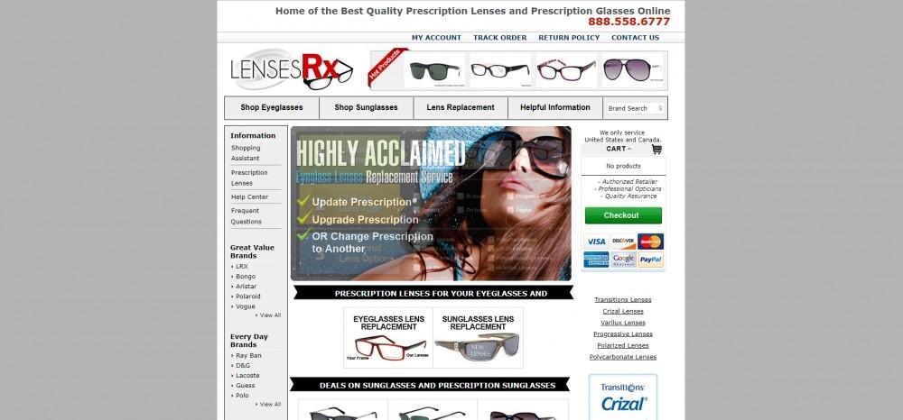 LensesRx Homepage