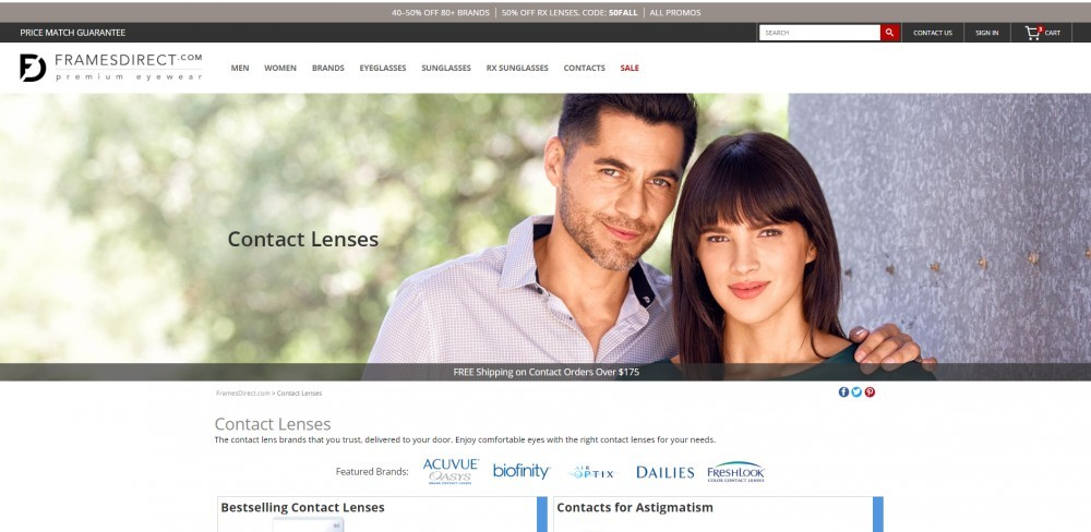 Frames Direct Contacts Page