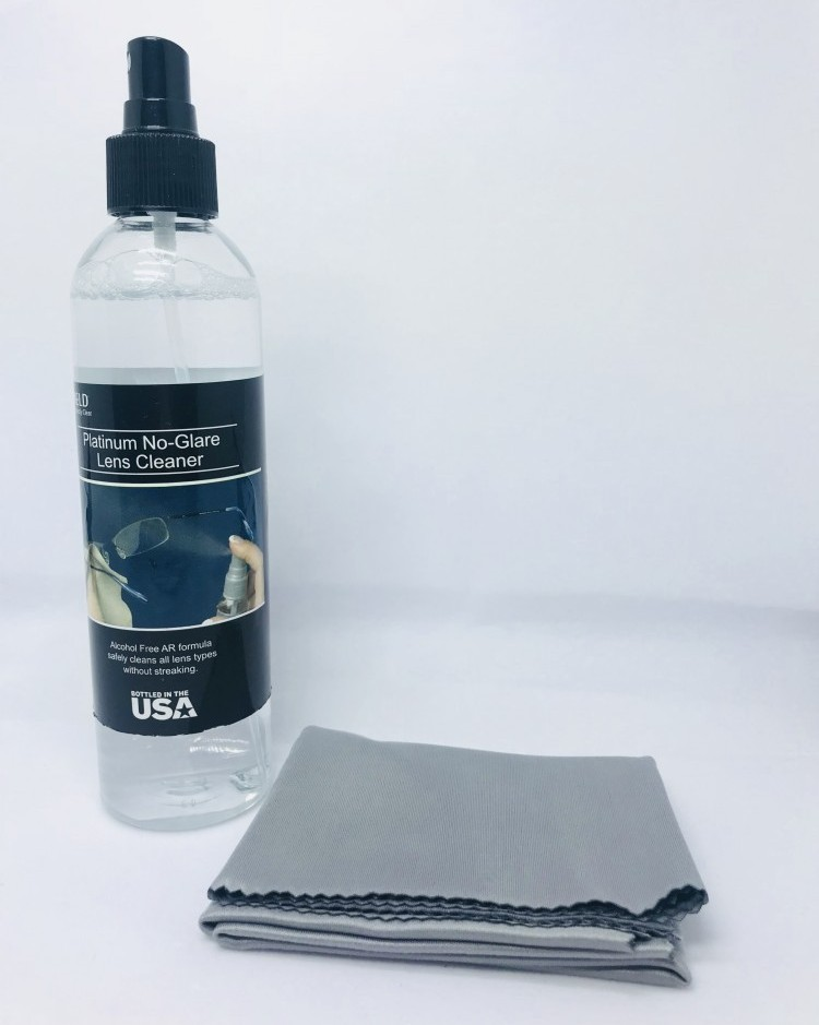 Lens cleaner with microfiber cloth