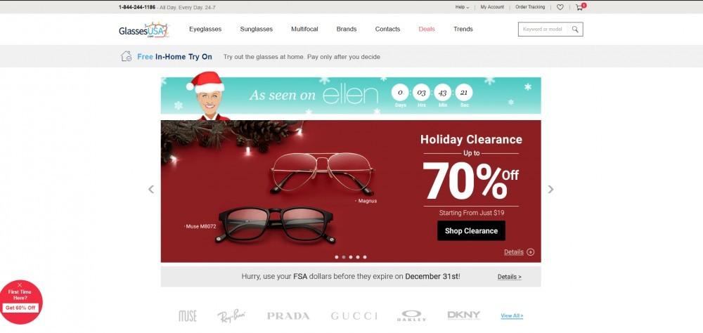GlassesUSA Homepage