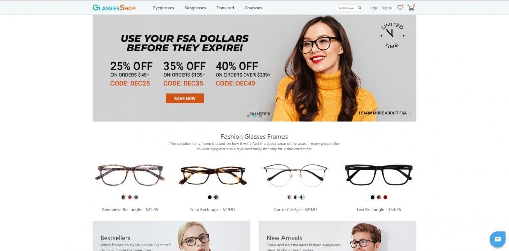 GlassesShop Homepage