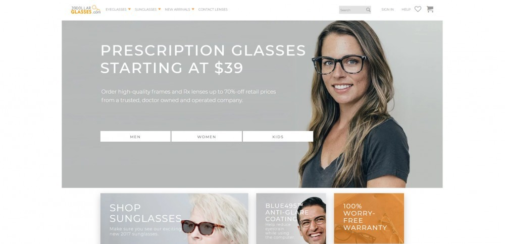 39Dollarglasses Homepage