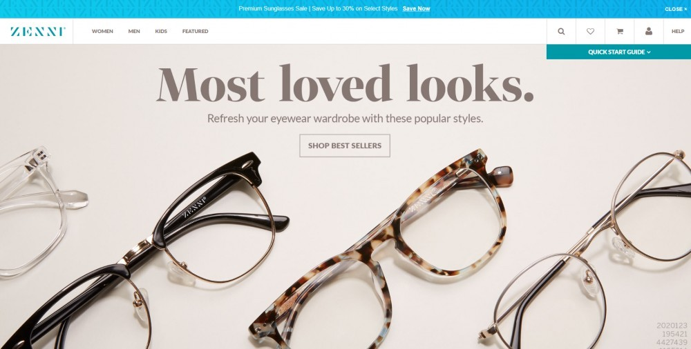 Zenni Optical Homepage