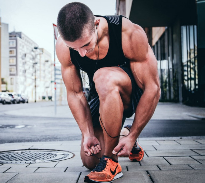 """<img src=""""runner kneeling to tie laces.jpg"""" alt=""""what is the secret to weight loss""""/>"""