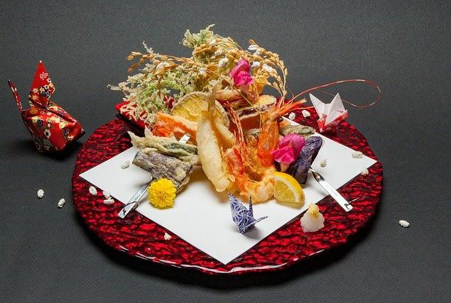 seasonal tempura foods