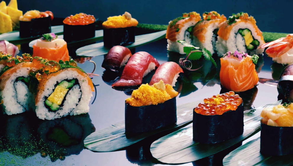 sushi in all variety