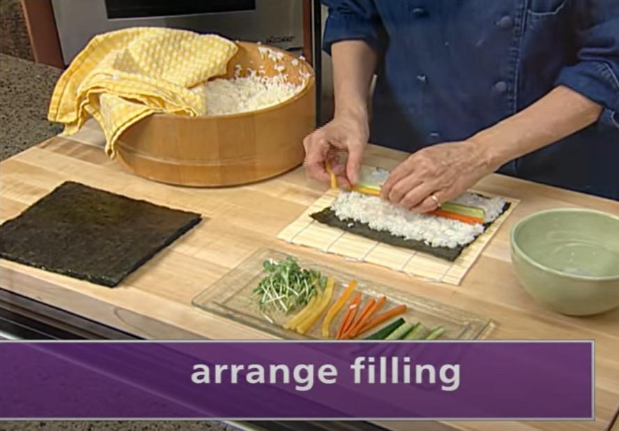 arrange the filling