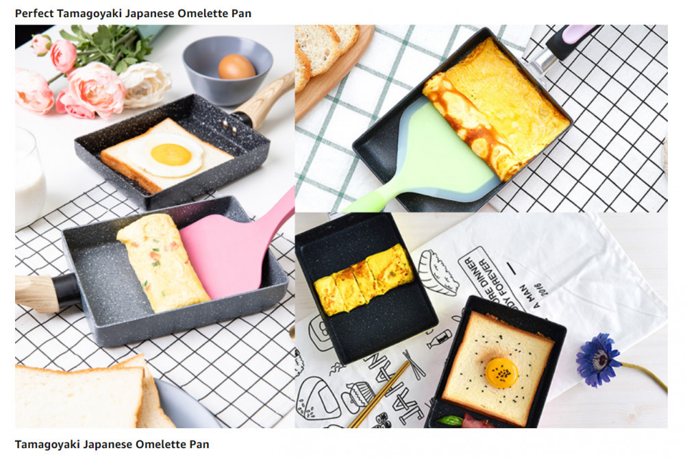 variety of cook foods on square pan