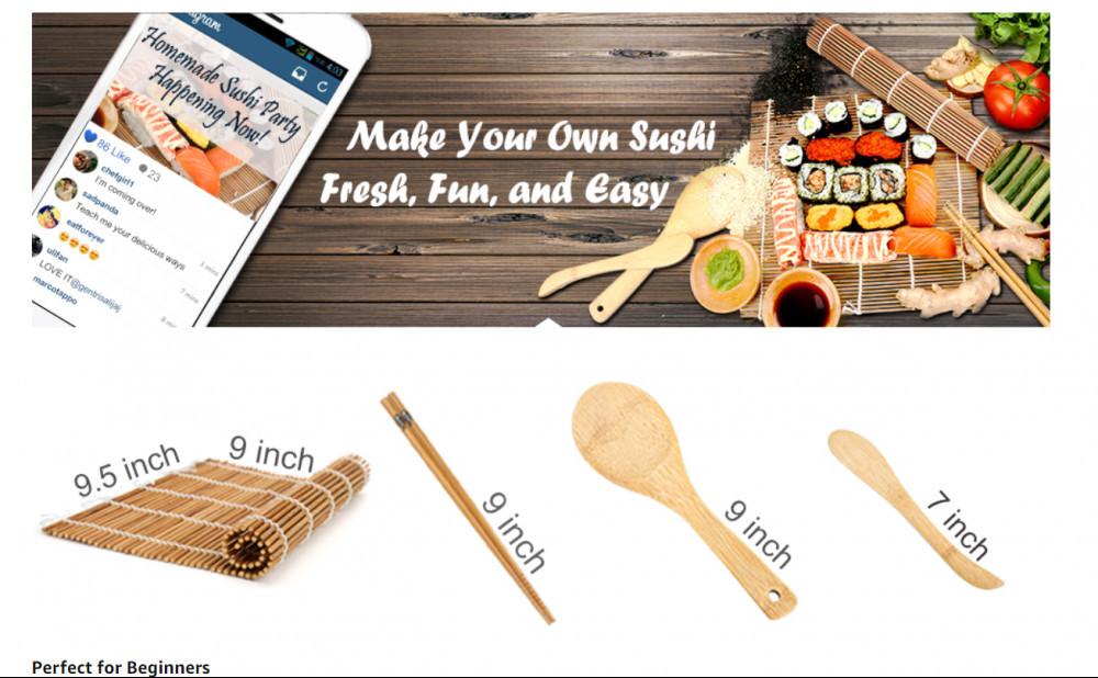 Sushi mat kit + PDF guide