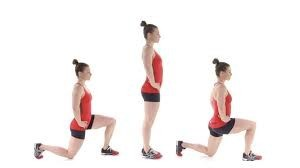 walking-lunge exercise