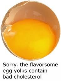 egg yolk contains the bad cholesterol.