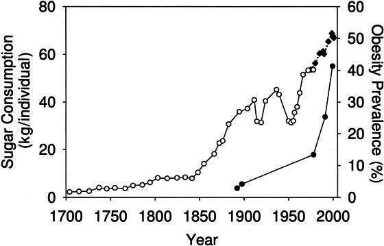 sugar intake-last-centuries