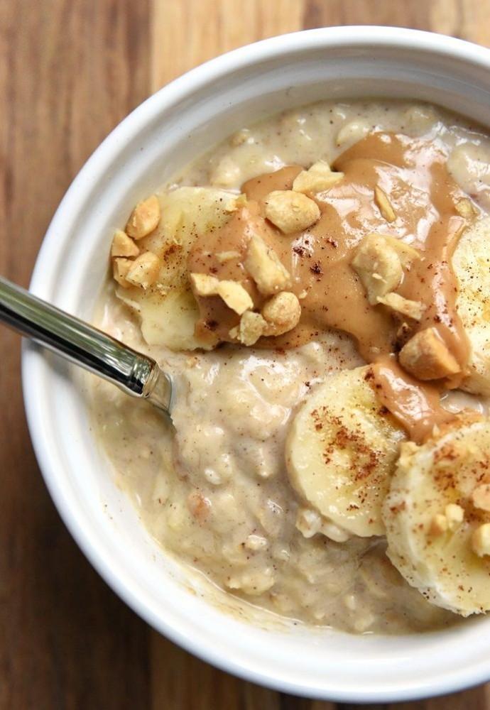 oatmeal-banana-almond paste-porridge